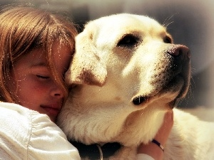 dog, friendship, girl